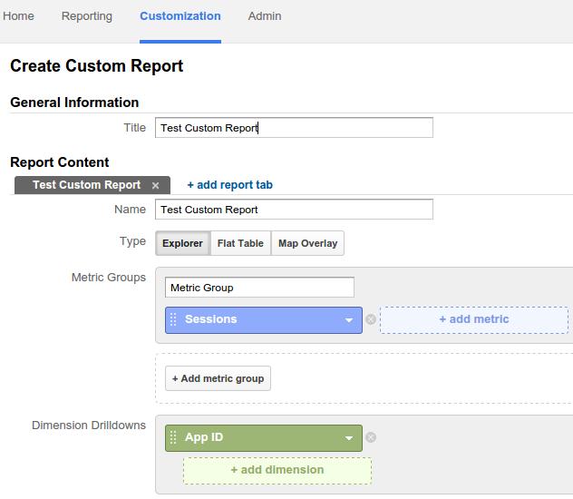 crear un informe personalizado