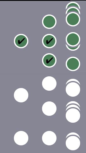 De tres usuarios, el primero y todas sus sesiones se incluyen en el segmento debido a una condición de usuario y de sesión coincidente.Los otros dos usuarios y sus sesiones se excluyen.