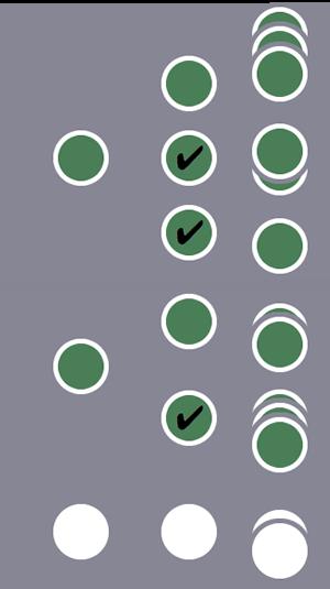 De tres usuarios, el primero y el segundo, y todas sus sesiones, se incluyen en el segmento debido a varias condiciones de sesión coincidentes para el primer usuario y a una única condición de sesión coincidente para el segundo usuario.El otro usuario y sus sesiones se excluyen.