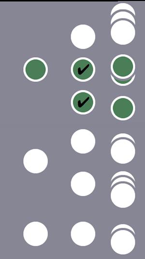 Entre três usuários, o segundo usuário e todas as sessões dele são incluídas no segmento devido a duas condições correspondentes no nível da sessão.As sessões dos outros dois usuários são excluídas.