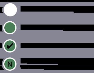 ユーザーモデルの階層の各ノードの種類を、ノードがセグメントから除外されているか、含まれているか、条件に一致しているか、シーケンスのステップに一致しているかによって表した凡例です。
