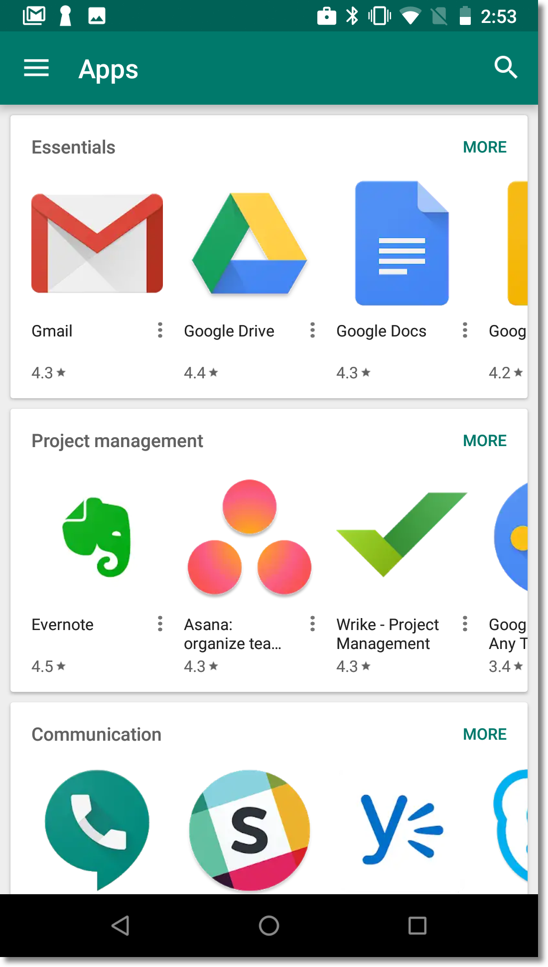 managed Google Play iframe