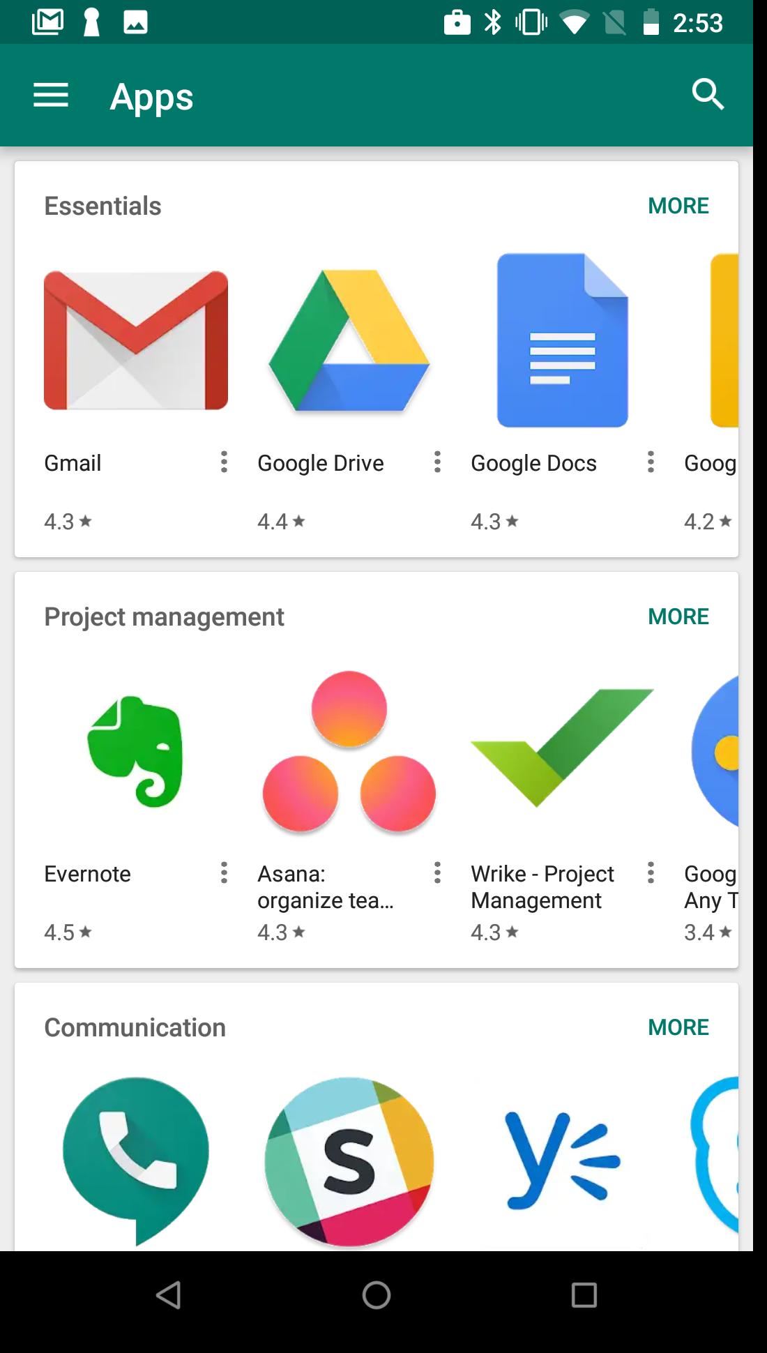managed Google Play iframe