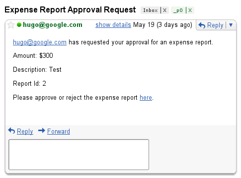 Tutorial: Expense Report Approval | Apps Script | Google Developers