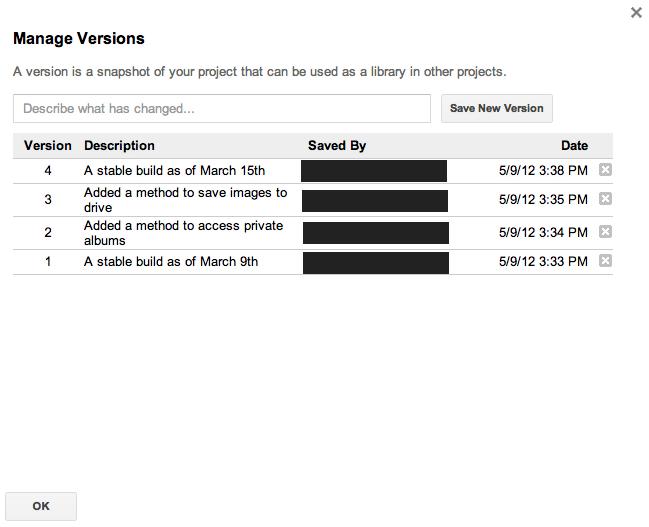 Versions | Apps Script | Google Developers