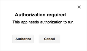 Authorization for Google Services | Apps Script | Google