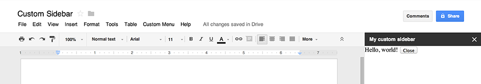 Dialogs and Sidebars in G Suite Documents | Apps Script | Google