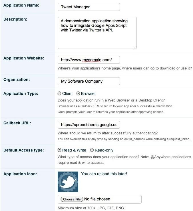 Create Twitter App