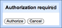 OAuth Authorization Dialog