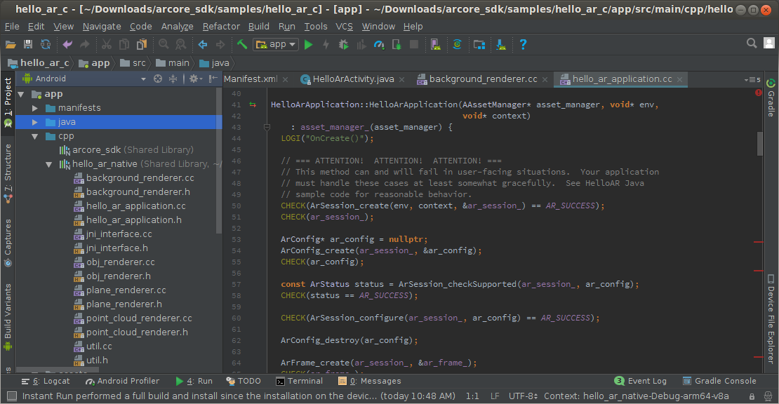 visual studio android c++ tutorial