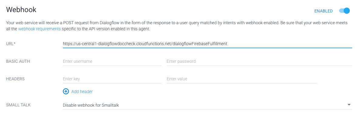 Deploy Fulfillment | Actions on Google | Google Developers