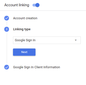 Account linking with Google Sign-In | Actions on Google