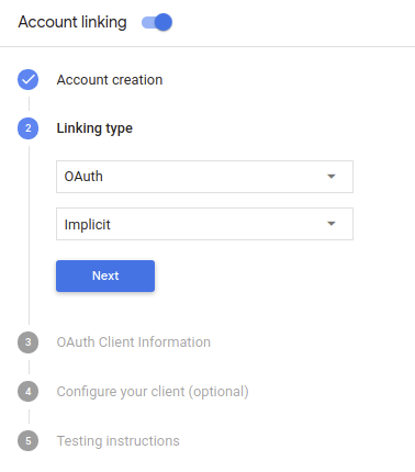 Account linking with OAuth | Actions on Google | Google