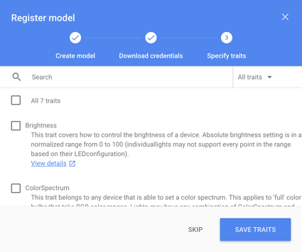 Register the Device Model | Google Assistant SDK | Google Developers
