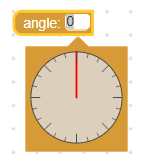 Angle picker zero at top