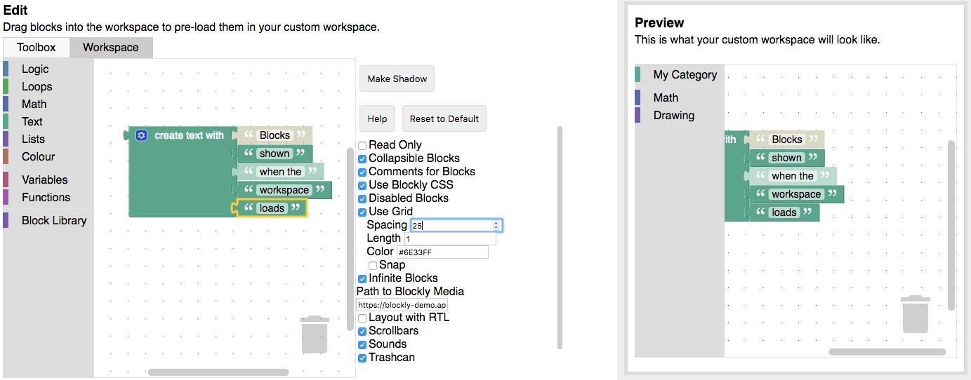 Blockly Developer Tools | Blockly | Google Developers