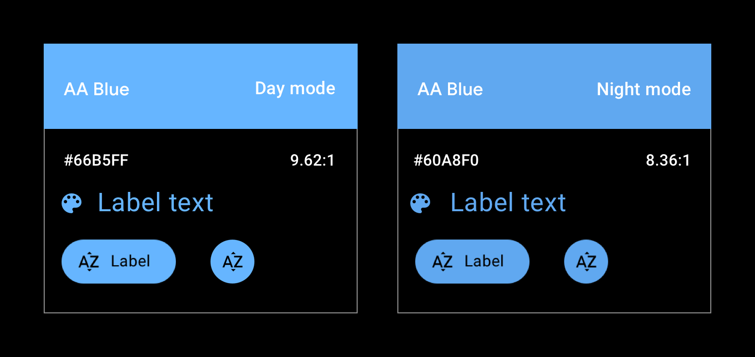 Blue car accent color example