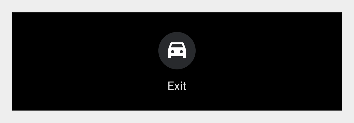Exit icon with title