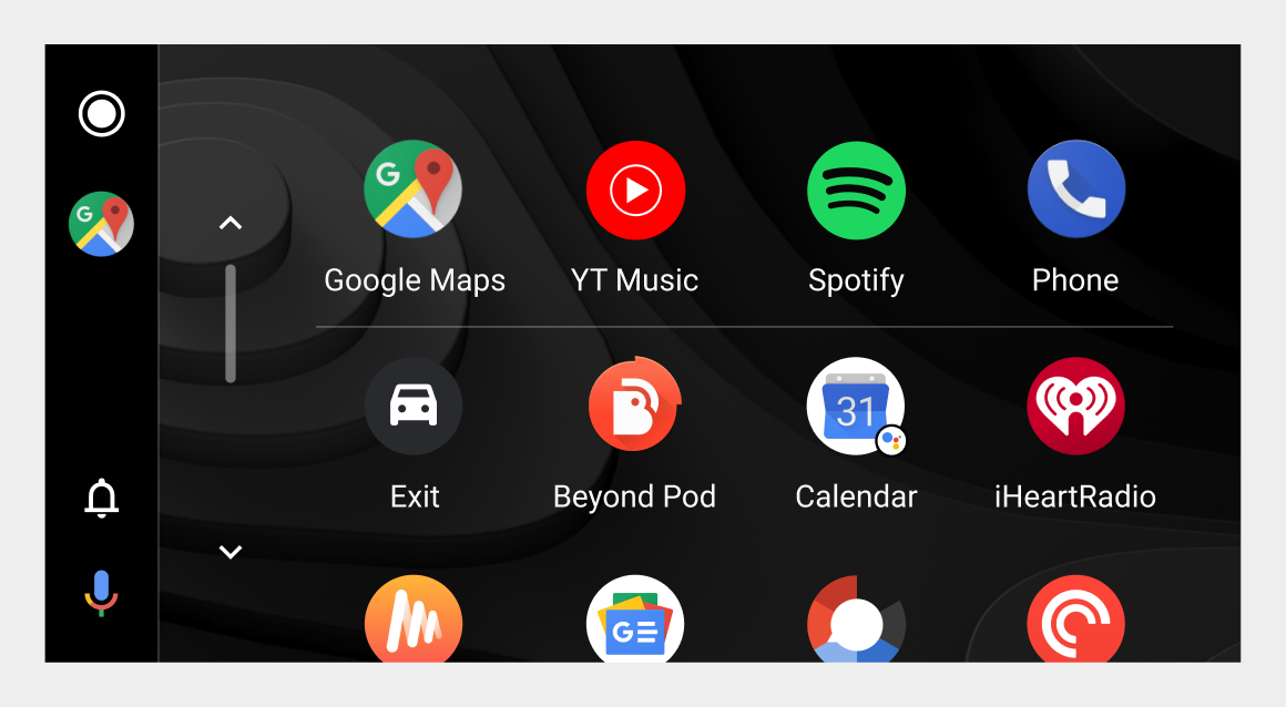 Vertical navigation bar on left side of screen