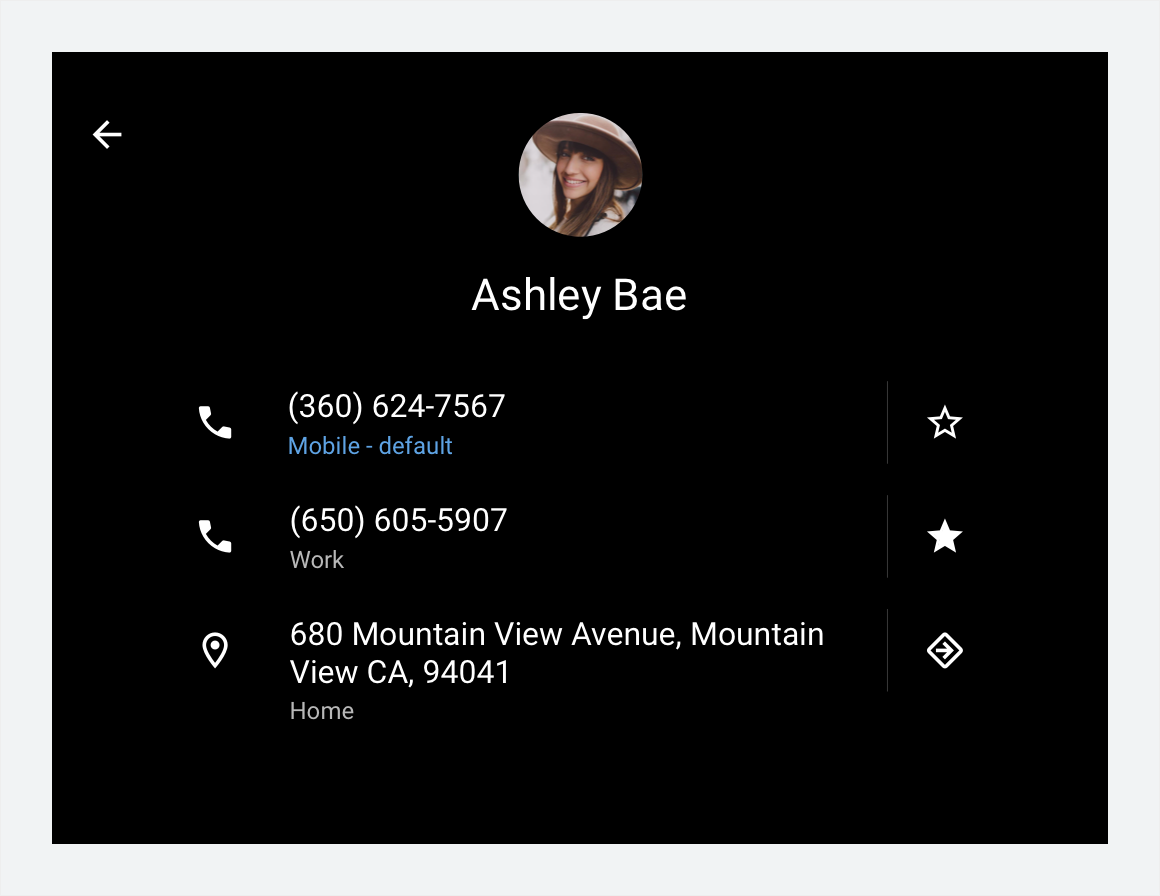 Navigating away from contact details