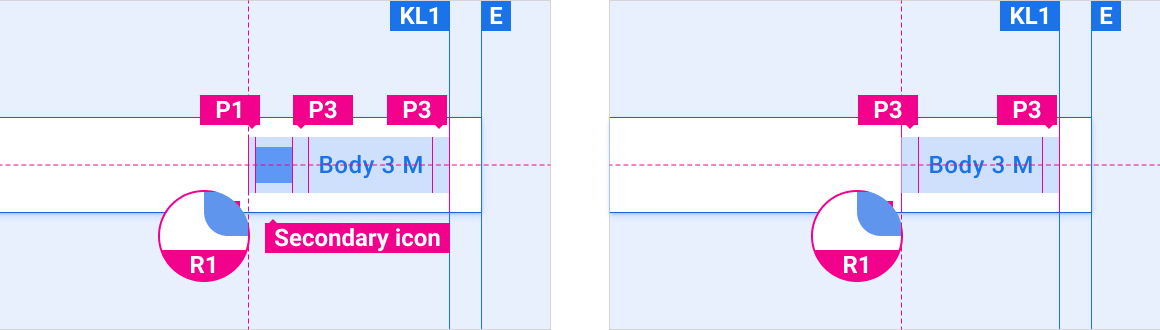 Buttons can include icons. When included, icons typically appear to the left of button text.