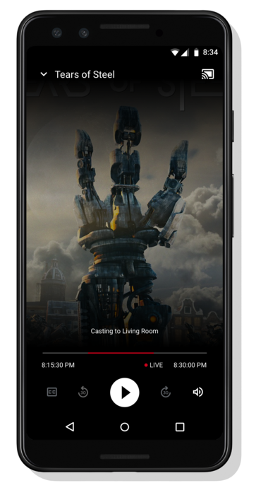 A mobile phone showing the Live UI for Scenario 7 with Clock Time