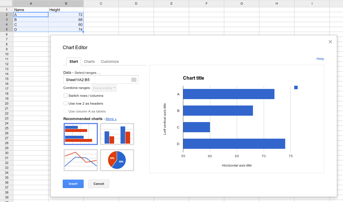 Google Spreadsheets Charts – How to Make a Chart in Word