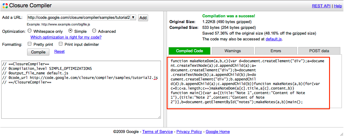 Getting started with the ui closure compiler google Code compiler