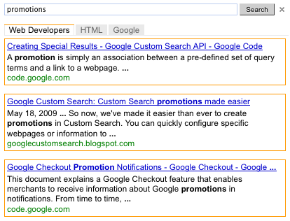 how to change google custom search to normal