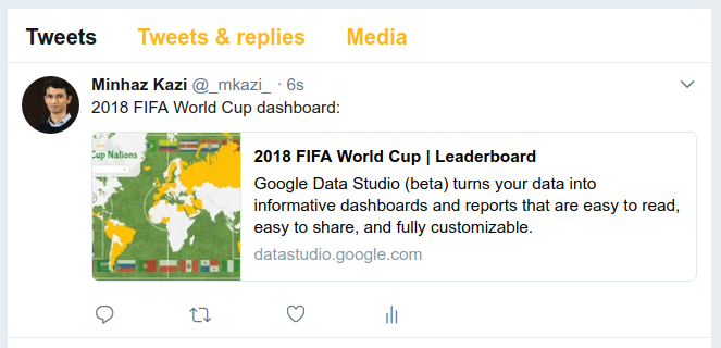 Screenshot of tweet posted on Twitter