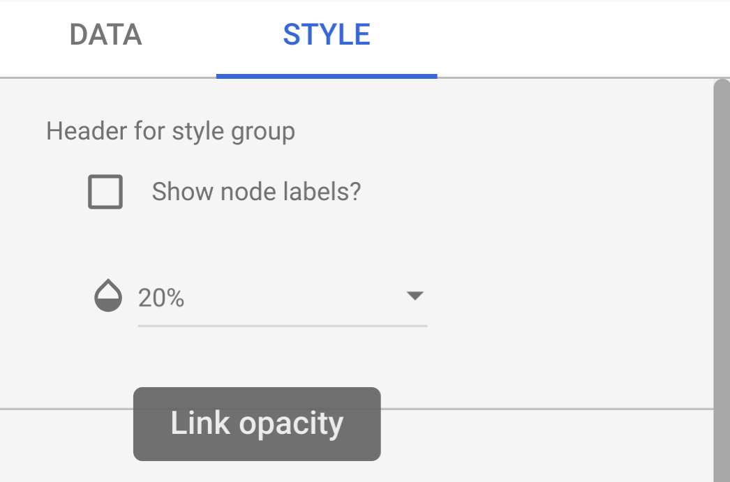 Screenshot of style selector
