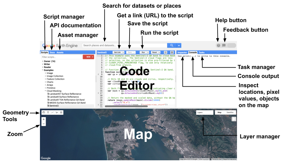 Earth Engine Code Editor | Google Earth Engine API | Google Developers