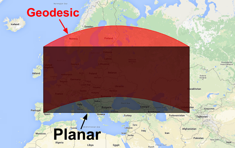 geodesic planar polygon