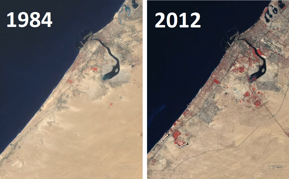 Urban growth in Dubai