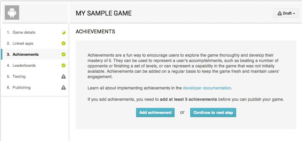 The 'Add Achievement' button on the main Achievements Panel
