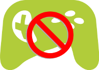 distorted game controller icon