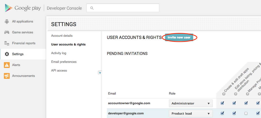 The screen to invite new users to share this publisher account