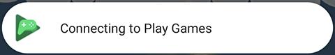 """A captura de tela mostra o pop-up """"Conectando a""""."""