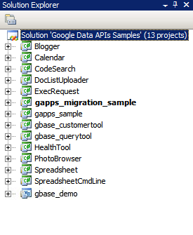 The Google Data API solution