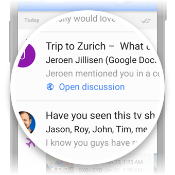 A Go-To Action in Inbox