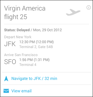 Flight Details Confirmation Card