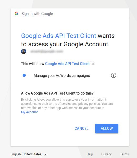 API call example | Google Ads API Beta | Google Developers