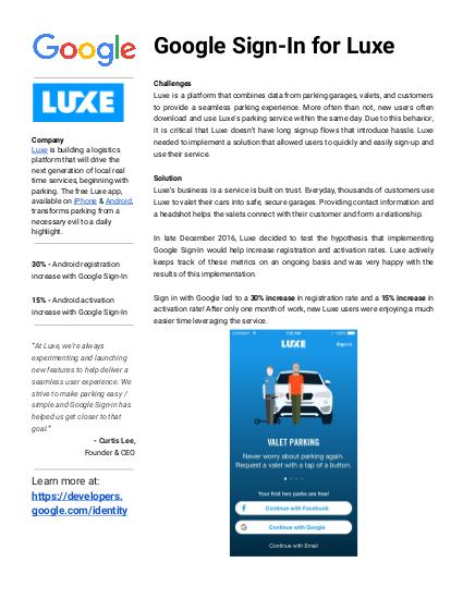 Luxe case study
