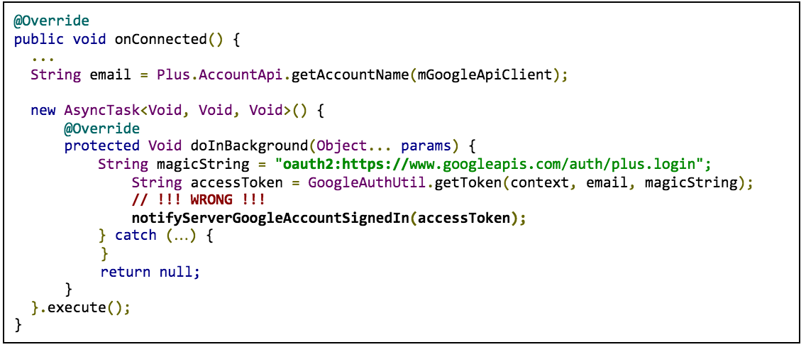 Migrate from GoogleAuthUtil and Plus API | Google Sign-In for