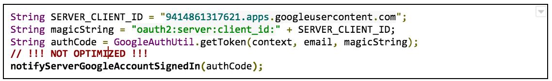 Código de Android