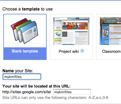 Using Google Sites to Host Your KML | Keyhole Markup
