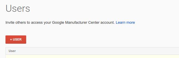 Add service account user button screenshot.