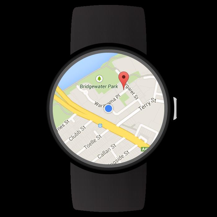 Mapa en un dispositivo wearable