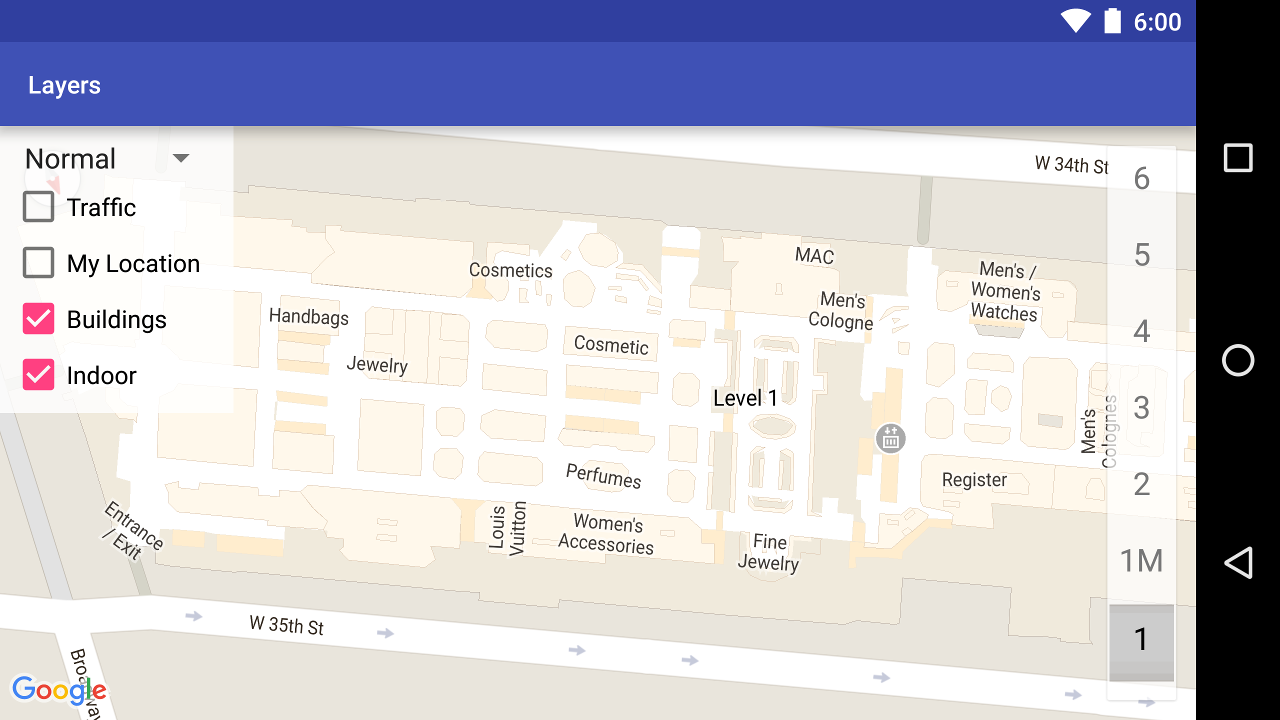 Indoor map example