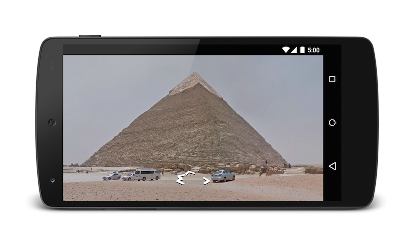 Pyramids in Street View